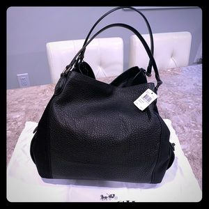 Brand New Coach Pebble & Suede Leather Bag